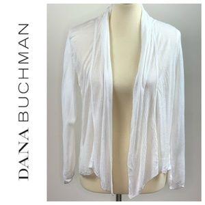 Dana Buchman White Open Front Cardigan Medium